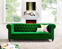 Emerald greed velvet sofa idea