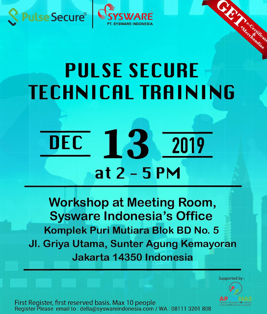 Pulse Secure Technical Training 13 Desember 2019