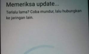 Memeriksa update terlalu lama