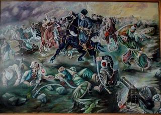 Руда. Музей Івана Виговського. Хотинська битва. 1621 р. Худ. О. Климко