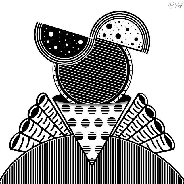 black and white geometric geometry artwork artist design