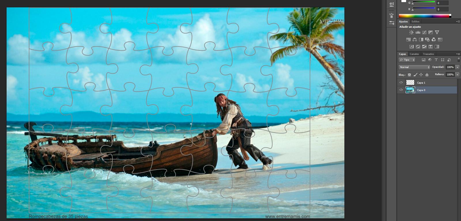 Tutoriales Basicos Photoshop Tutorial Efecto De Puzzle Photoshop Cs6