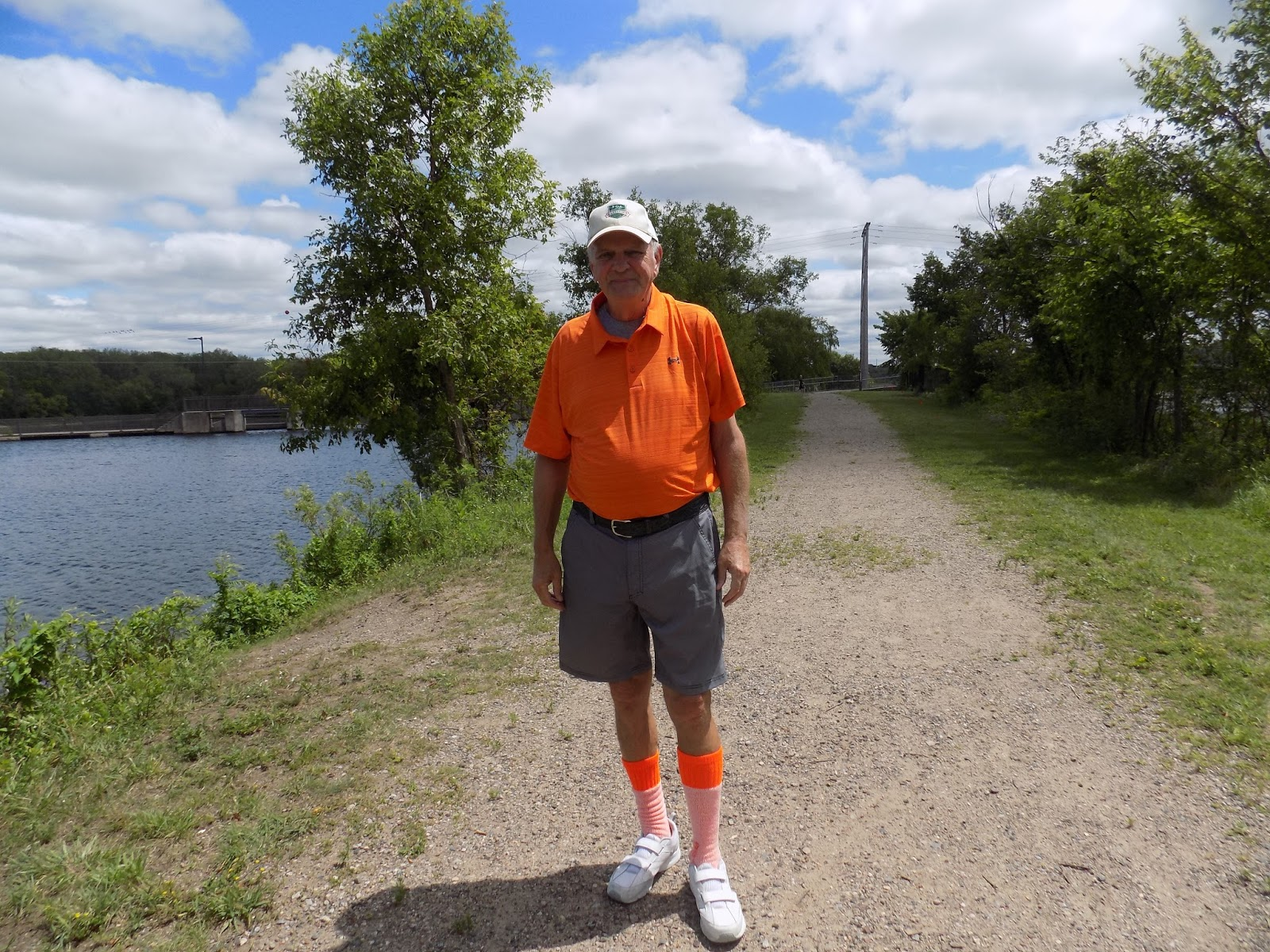 Quite A Few People Were Fishing Along The Bank Of Mississippi River When  Boomer And I Took Our Walk Last Week Obviously Boomer Likes Rickie Fowler
