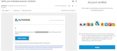cek email verifikasi autocad