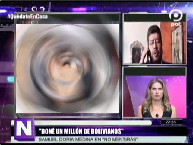 VIDEO: Samuel Doria Medina dona Bs. 1.000.000 para lucha contra el coronavirus en Bolivia