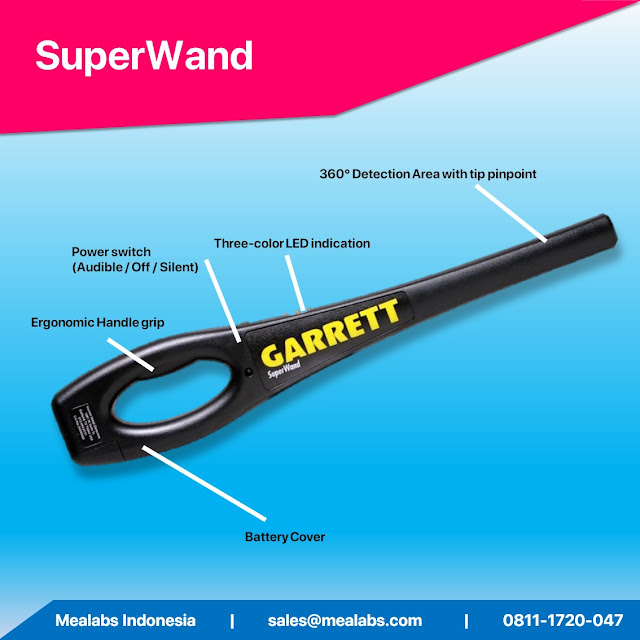 handheld metal detector garret superwand