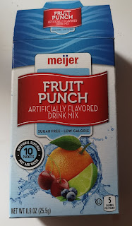 Outer packaging of Meijer Fruit Punch Drink Mix Sticks