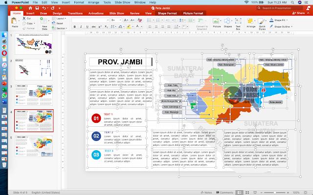Gambar template powerpoint peta Jambi