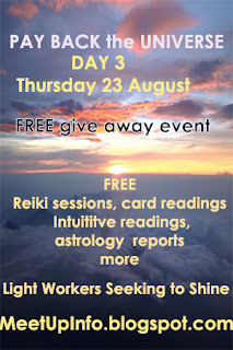 freebies, Give Back to the Universe FREE online event, Give-a-ways,