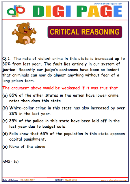 DP | CRITICAL REASONING | 20 - JUNE - 17 |