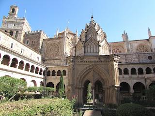 Claustro; Monasterio de santa María de Guadalupe; Guadalupe; Cáceres; Extremadura