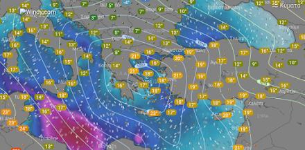 Τοπικές βροχές αύριο στα βόρεια και βορειοανατολικά - Ηλιοφάνεια στην υπόλοιπη χώρα