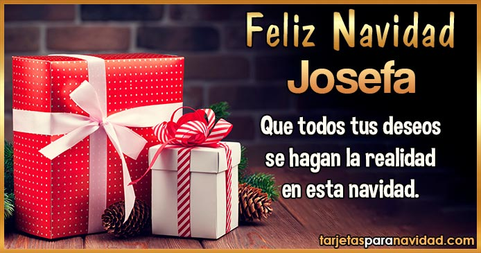 Feliz Navidad Josefa