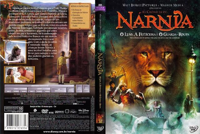 Capa DVD As Crônicas de Nárnia O Leão, A Feiticeira e o Guarda-Roupa