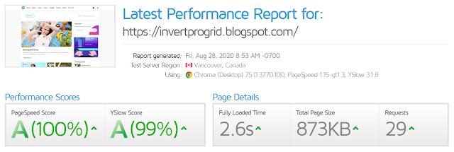 Invert Pro Responsive Blogger Template