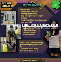We Are Hiring at PT. Semanggi Wangi Lestari Surabaya Agustus 2020