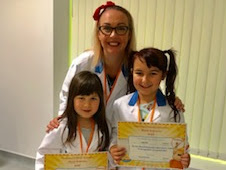 Ruby and Abby Wu Joined Harvey's Gang at Dumfries & Galloway baboratories