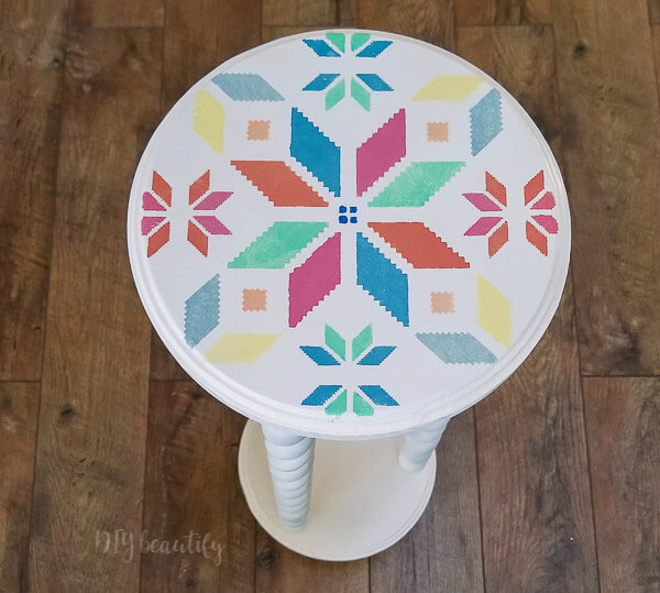 quilted stencil bright colors