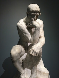 "Photograph of Rodin's preparatory study for his sculpture ""The Thinker"""