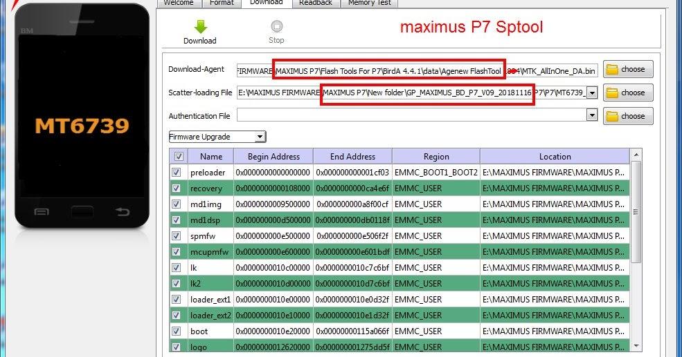 Maximus P7 Offcial Customar Care SpFlash Tool Erro Fix 1000
