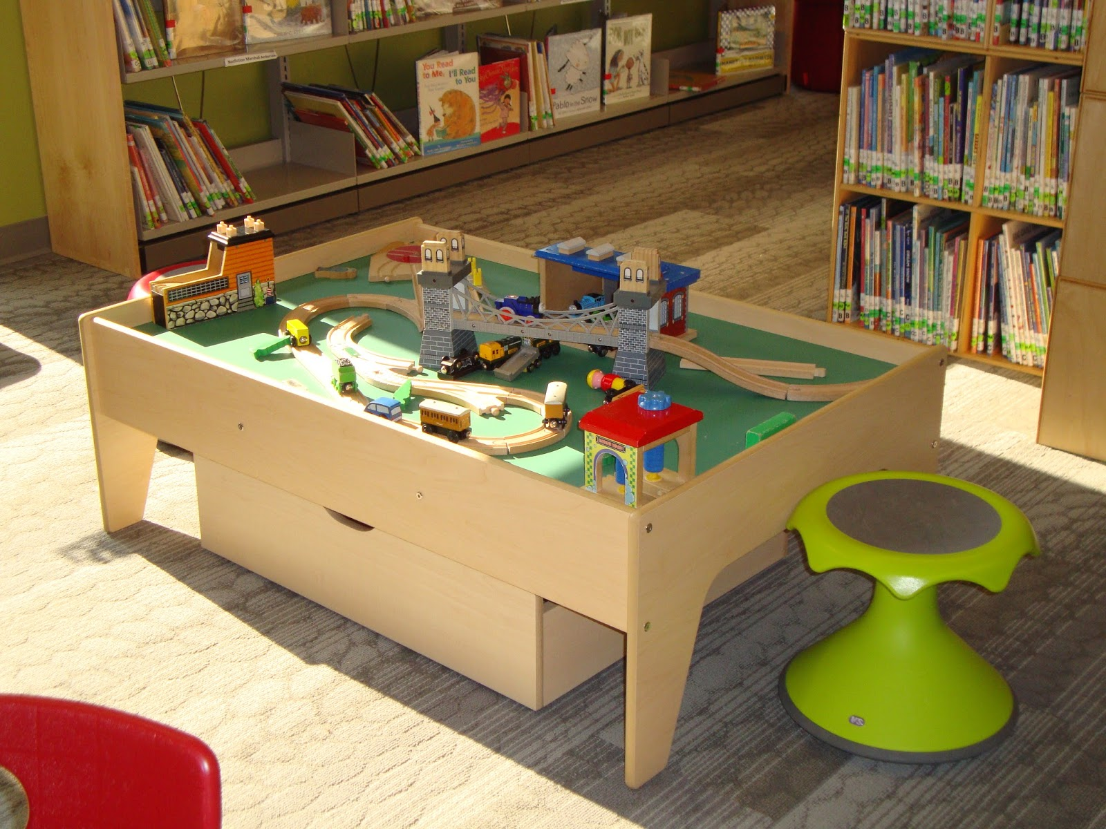 ... Library Train Table Donated By The Friends Of Tolland Public Library?  We Have A Wonderful New Family Reading Area And Play Space In The Childrenu0027s  Room; ...