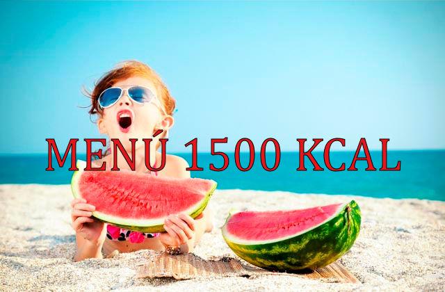 preparación de comidas de 1500 calorías con lista de compras