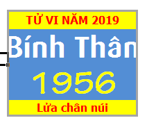 Tử Vi Tuổi Bính Thân 1956 Năm 2019 Nam Mạng - Nữ Mạng