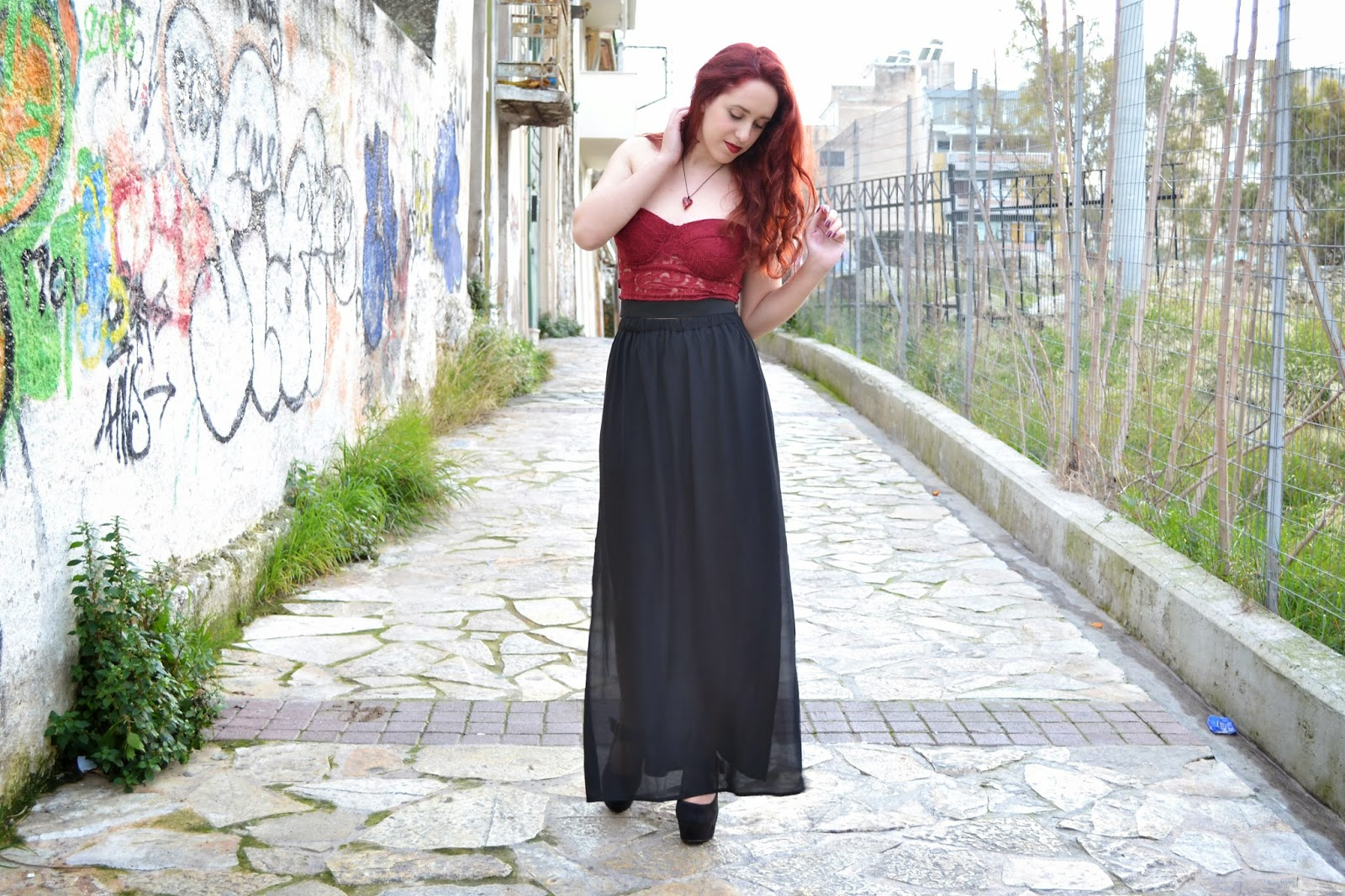 Anna ,Keni,redhead, spotlights on the redhead,fashion,model,blogger, BSB, migato, clothes, outfit, valentine's day, night,