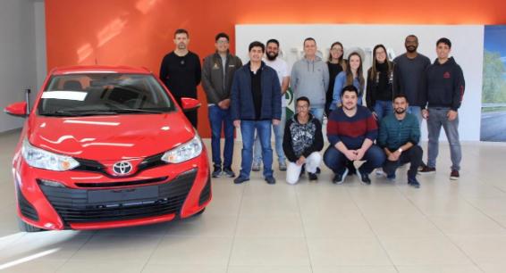 Alunos de Engenharia de Produção fazem Visita Técnica à empresa Toyota