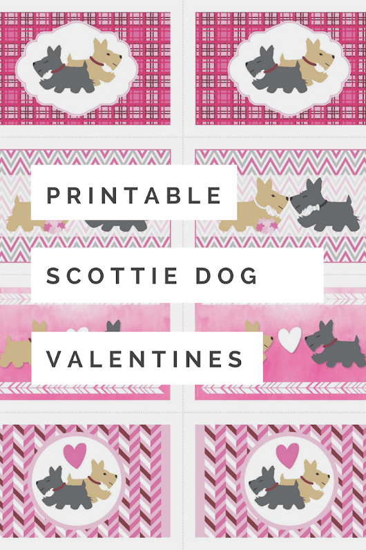 Printable Scottie Dog Valentine Cards