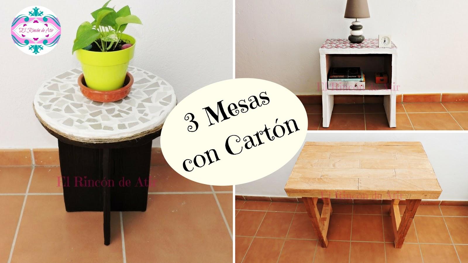 El rinc n de atir 3 formas de hacer mesas con cart n - Mesas de carton ...