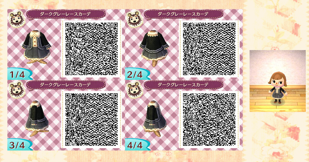 Traditional-Cute DressesQr Codes Animal Crossing New Leaf Dresses