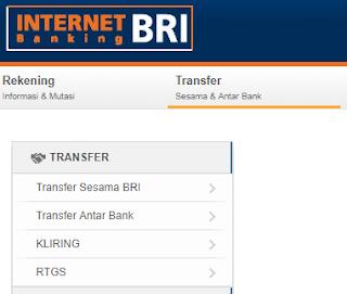 Transfer Internet Banking BRI