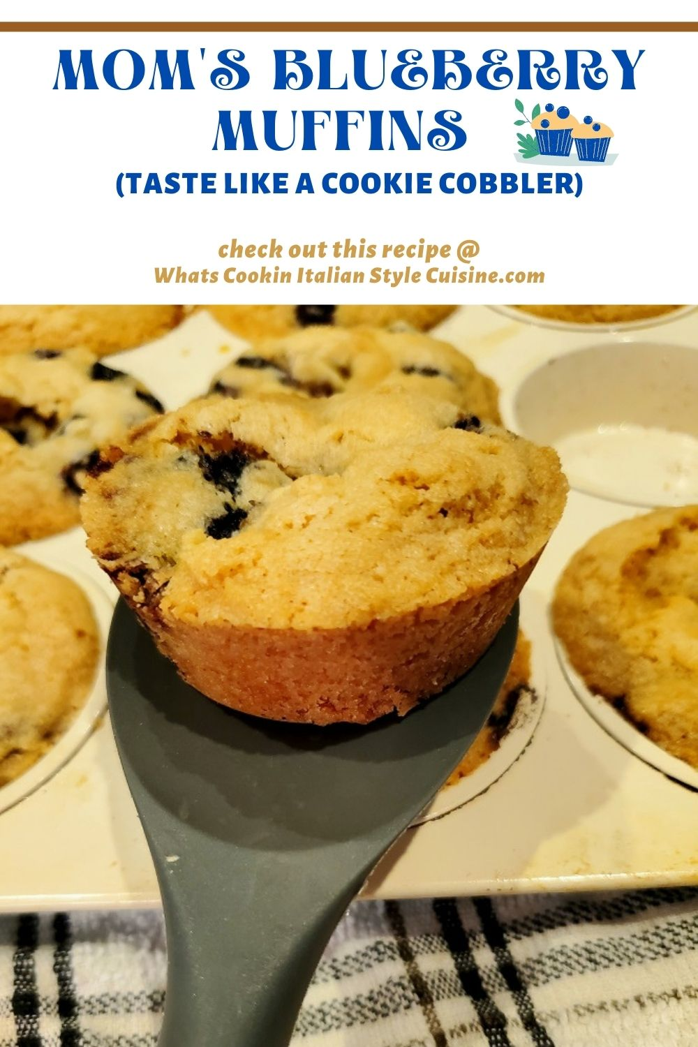 these are blueberry muffins in the photo pin for later