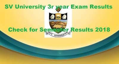 Manabadi SVU Degree 3rd year Results 2018, SV University final year Results 2018 Schools9