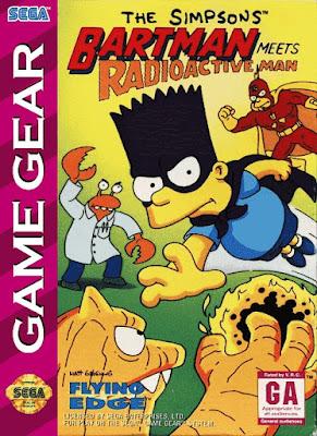 Jogo The Simpsons Bartman Meets Radioactive Man Game Gear