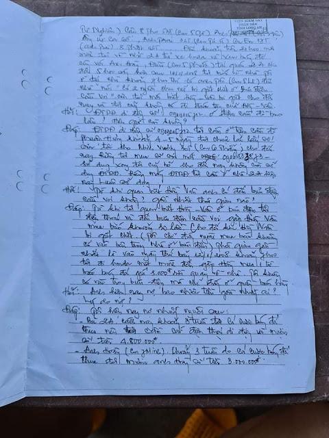Bản nhận tội đầu tiên Hồ Duy Hải khai đi xe Wave S màu đen ngày 21/03/2008