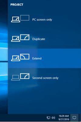 اعدادات شاشتين على الويندوز لكمبيوتر واحد