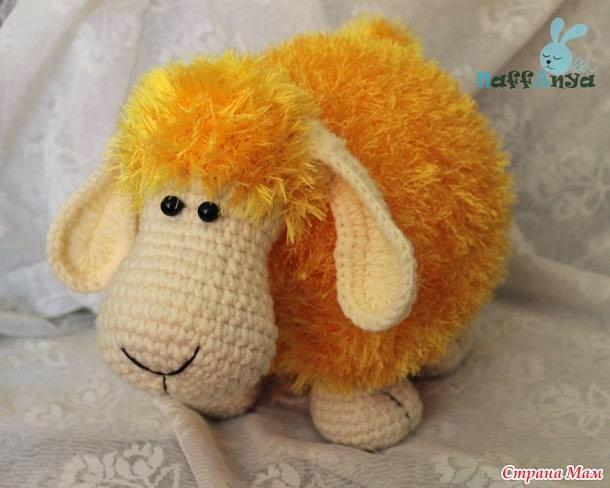 wydziergana owieczka