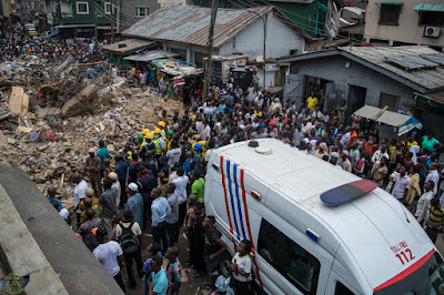 8 Confirmed Dead, 15 Rescued As Building Collapses In Lagos Island 6