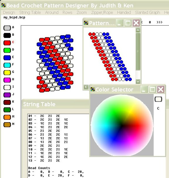 FREE graph pattern generator! for crochet, cross stitch, knitting ... | 606x576