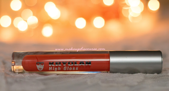 Kryolan High Gloss Brilliant Lip Shine in Apricot Review, Swatches, Photos