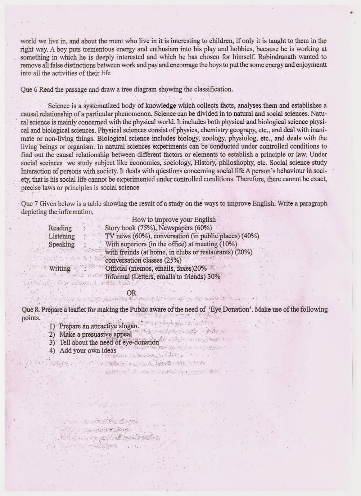 Communication Skill Worksheet