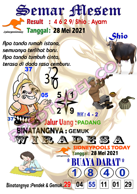 Syair Semar Mesem Sdy Jumat 28 Mei 2021