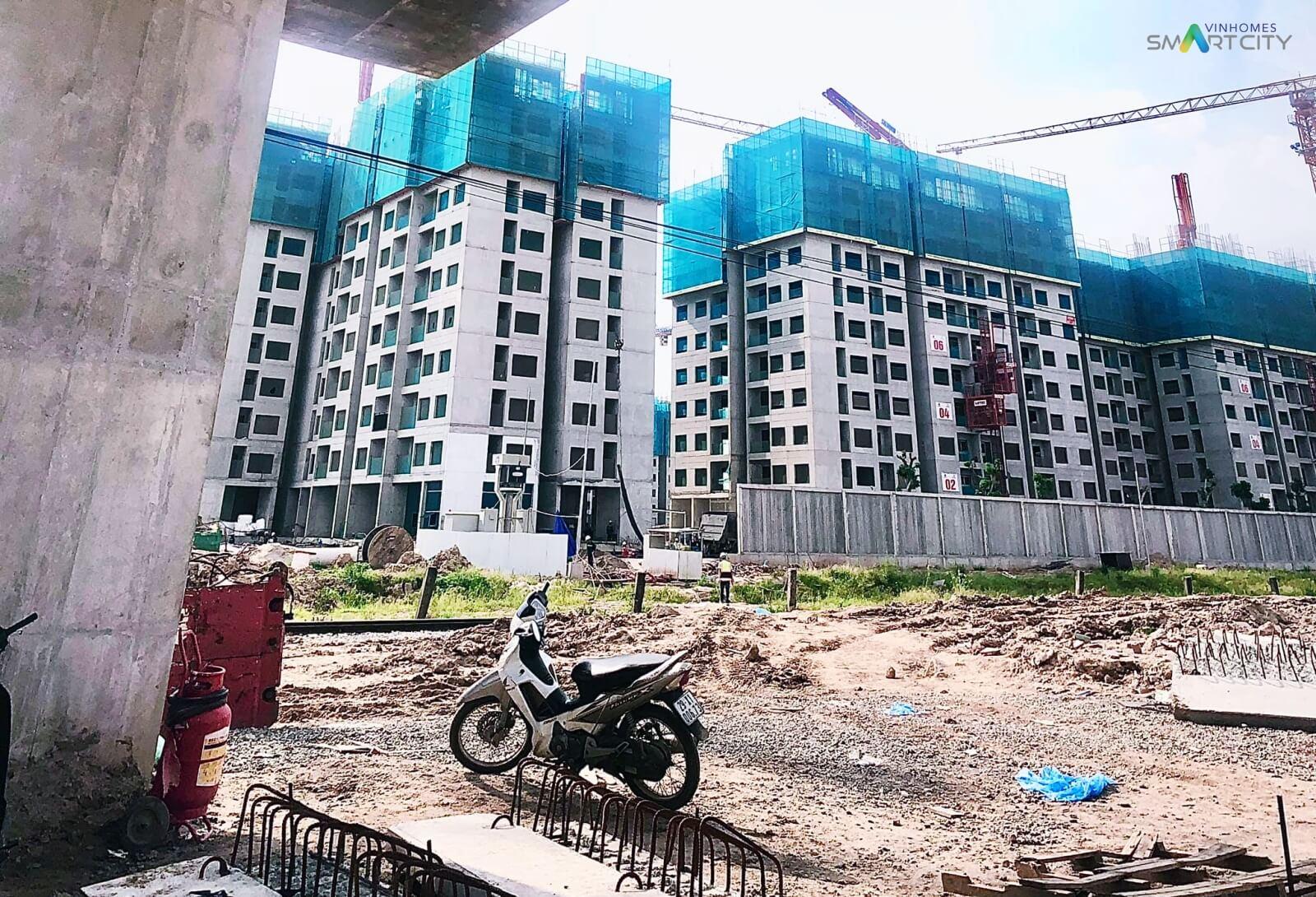 Tiến độ xây dựng toà căn hộ chung cư Vinhomes Smart City