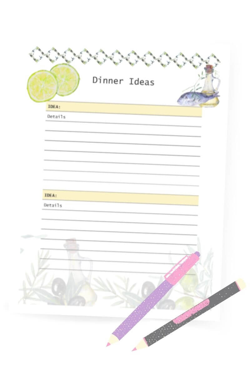 Free meal planning printables for beginners