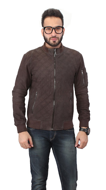 MENS BROWN COLOR LEATHER JACKET BY BARESKIN