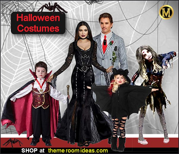 halloween costumes spooky costumes spooky family costumes Vampire Costumes  Bat  Costume Zombie Girl Costumes
