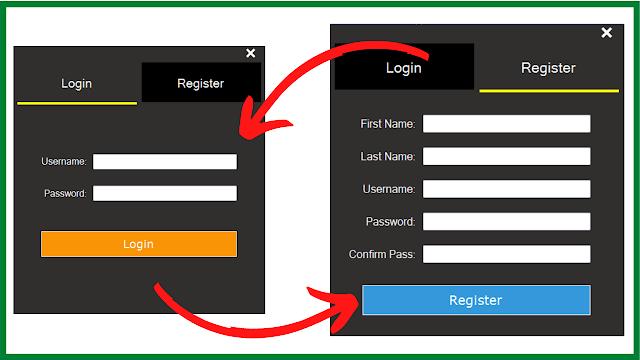 C# Login And Register Form Design