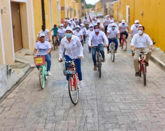 Los yucatecos necesitan diputados que sí sepan hacer equipo con el gobernador: Pili Santos